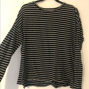 Make an offer! Black and white striped long sleeve